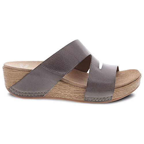 (Dansko New Women's Lacee Slide Sandal Taupe Burnished Calf 39)