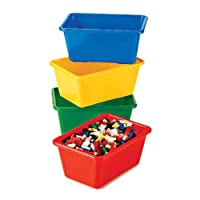 Deals on Set of 4 Tot Tutors Kids' Primary Colors Small Storage Bins
