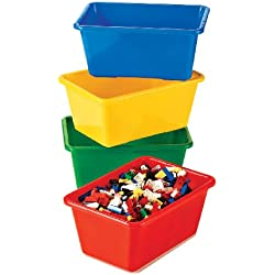 tot tutors kids primary colors small storage bins - Tot Tutors Book Rack Primary Colors