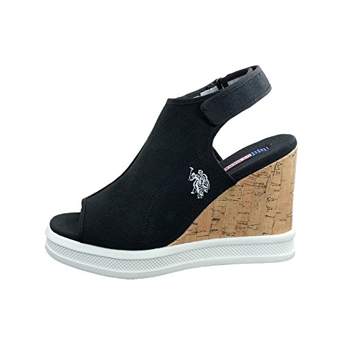 Heel c1 Us Dhome4172s6 Dhome4172s6 Sughero Da Polo Assn Donna Assn Nera Sandali Shoes In Women's Tacco Sandals Black With Shoes Polo c1 Us Con Scarpe Cork Scarpe xv4wEf7qw