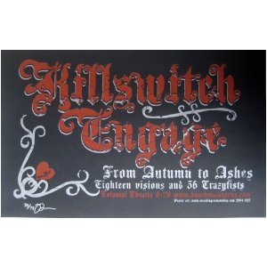 Killswitch Engage Poster w/ From Autumn to Ashes 2004 Concert