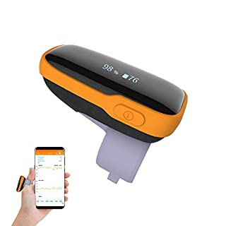 ViATOM Wearable Oxygen Monitor, WearO2 Rechargeable Blood Oxygen Saturation Monitor with Vibration Alarm & Free O2 Report, Smart Fitness Tracker & Heart Rate Monitor with APP