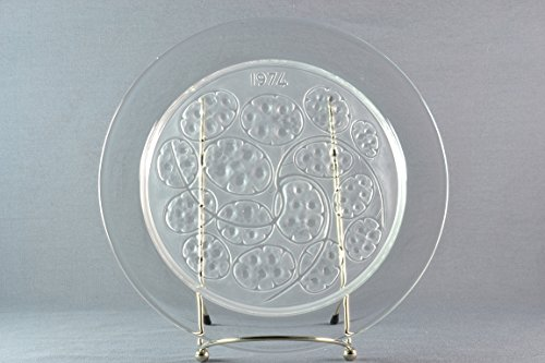 Lalique Crystal Annual Plate, 1974 Sous d'Argent