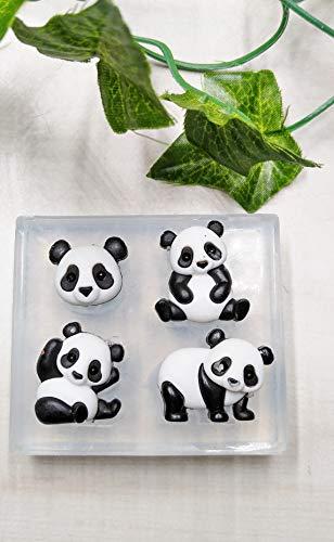 - Clear View Mold, Little Panda Bears, Sugar, Chocolate, Fondant, Polymer Clay, Cake Decorating Handmade Supply