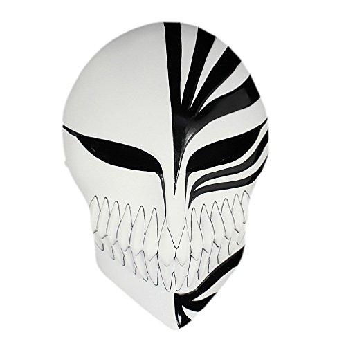 K.N.-fashion JP K.N. Anime Bleach Ichigo Kurosaki Halloween Mardi Gras Cosplay Resin Mask Masquerade (Black) ()