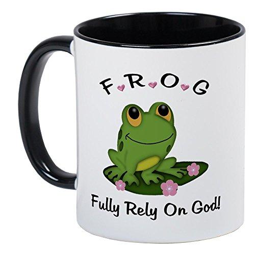 (CafePress FROG Fully Rely On God Mug Unique Coffee Mug, Coffee)