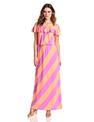 Lilly Pulitzer Women's Marley Maxi Dress, Sunrize Orange Always A Party Stripe, Large