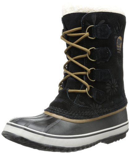 Sorel Women's 1964 PAC Graphic 13 Snow Boot,Black/Cafe,6 M US