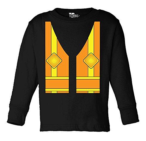 Tcombo Construction Costume Toddler Long Sleeve Shirt (Black, 3T)