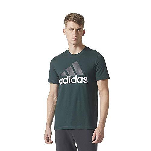 Ess shirt TeeT Uomo Adidas vernoc Linear Verde EHDI29