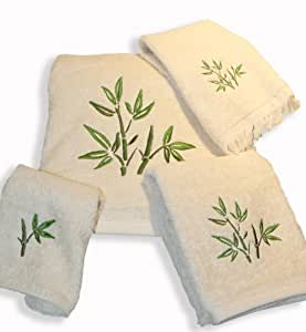 Amazon Com Usa Made Towels Natural Color 4 Piece Set With