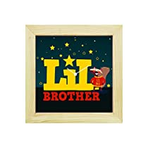 YaYa Cafe 8x8 Inches Rakhi Gifts for Brother Desk Clock Lit