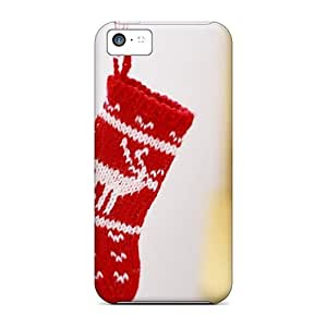 Quality Charming YaYa Case Cover With Christmas Knitted Sock Nice Appearance Compatible With Iphone 5c