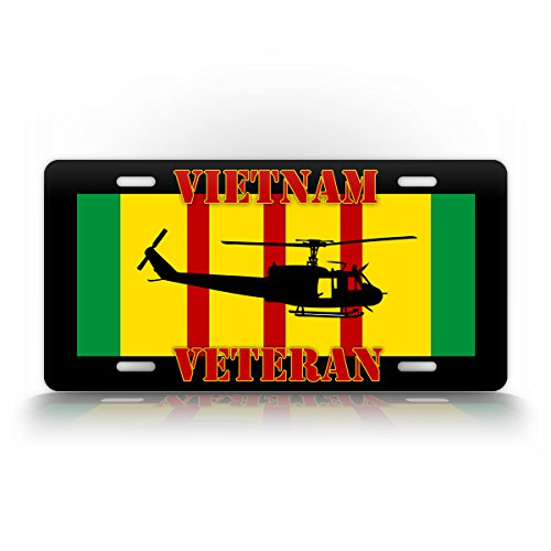 Vietnam Veteran UH-1 Huey License Plate Bell Iroquois for sale  Delivered anywhere in USA