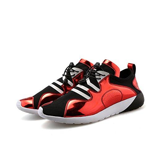 WZG Los nuevos zapatos de los hombres zapatos casuales zapatos del estudiante de los hombres de los hombres de la personalidad Red
