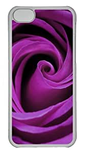 Iphone 5C Cases and Covers Purple Rose PC Shell Case Cover Protection for iPhone 5C - Transparent