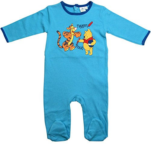 Winnie The Pooh und Tigger Kollektion 2016 Strampelanzug 56 62 68 74 80 86 92 Strampler Einteiler Disney Blau ( 74- 80 , Blau; Blue)