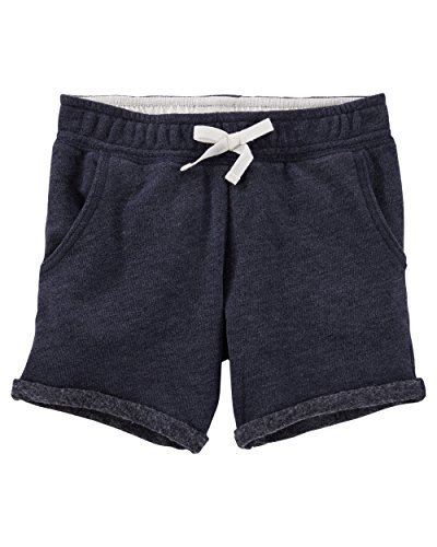 OshKosh Bgosh Little Girls French Terry Bermuda Shorts 6 Kids Navy