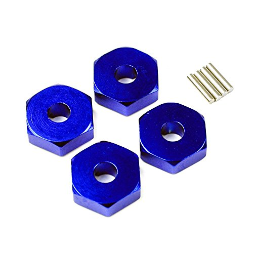Atomik RC Alloy Wheel Hex Adaptor, Blue fits the Traxxas 1/16 Slash 4x4 and Other Traxxas Models - Replaces Traxxas Part 7154