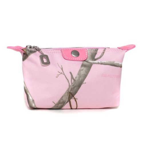 Realtree-Pink-Camouflage-Fabric-Cosmetic-Bag-w-Faux-Leather-Trim-RT1-51943B