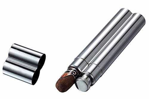 Visol VCASE1000 Malamute Stainless Steel Cigar Tube and (Cigar Flask)