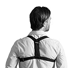 Swedish Posture Flexi Shoulder Muscles Support (Female S-M / Male - XS), Black