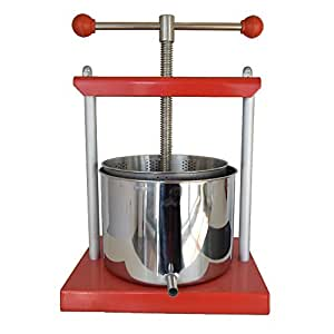 EJWOX 1.6 Gallon Stainless Steel Wine or Soft Fruit Press