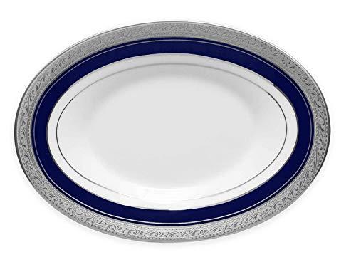 - Noritake Crestwood Cobalt Platinum Butter/Relish Tray