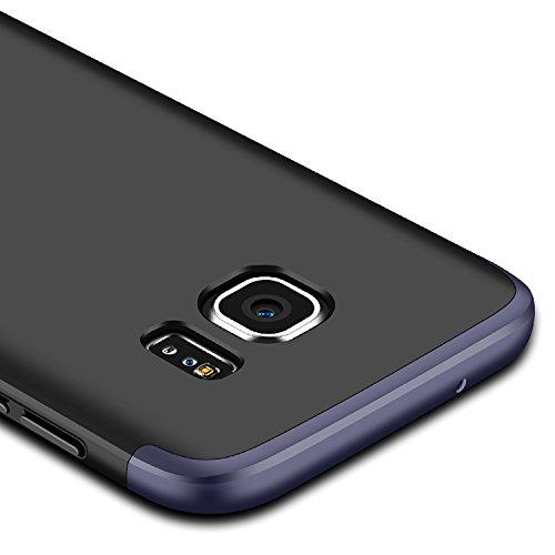 Funda Samsung Galaxy Note 8, Samsung Galaxy Note N950F Funda Case, PLECUPE la moda Ultra Thin Desmontable 3 en 1 Dura PC Plástico Case Cárcasa Caja Cover, Ultra Delgado Fino 360 Grados Integral Cobert Azul + Negro