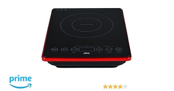 Jocca 2000 Placa de inducción portátil con Superficie de Cristal y Pantalla LCD, 2000 W, Negro: Amazon.es: Hogar