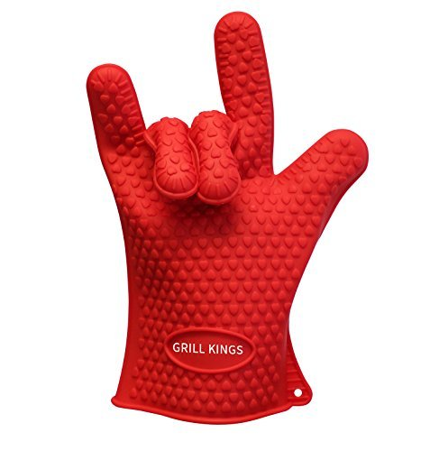 BBQ Gloves – Heat Resistant – Waterproof Silicone Oven Glove – Better Than Ove Glove – Double Glove Pack of Two – Baking, Grilling and Frying – Perfect Grill Tool and Gift – Review