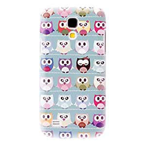 MOM Matte Style Lovely Cartoon Owl Pattern Durable Hard Case for Samsung Galaxy S4 Mini I9190