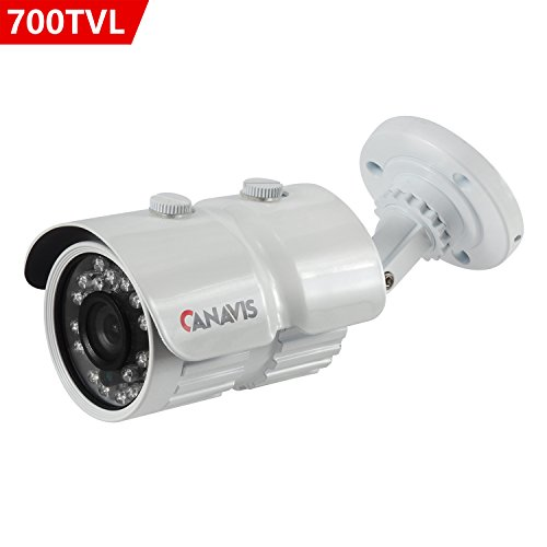 Security Camera, CANAVIS HD 700TVL CCTV Camera 3.6mm Lens IR Cut Night Vision Home Security Surveillance Indoor Outdoor Metal Housing Camera Review