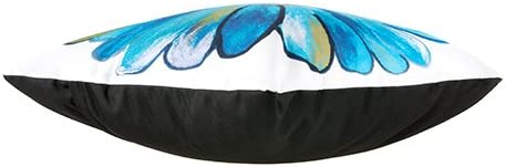 45/cm Outdoor cuscino margherite turchese impermeabile lino/ /cuscino imbottito per giardino