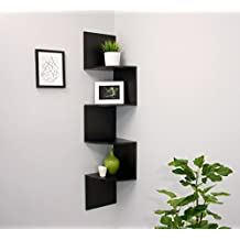 nexxt Provo Series Espresso Extra Large Corner Mounted Accent Shelf, 12 by 57 by 12-Inch