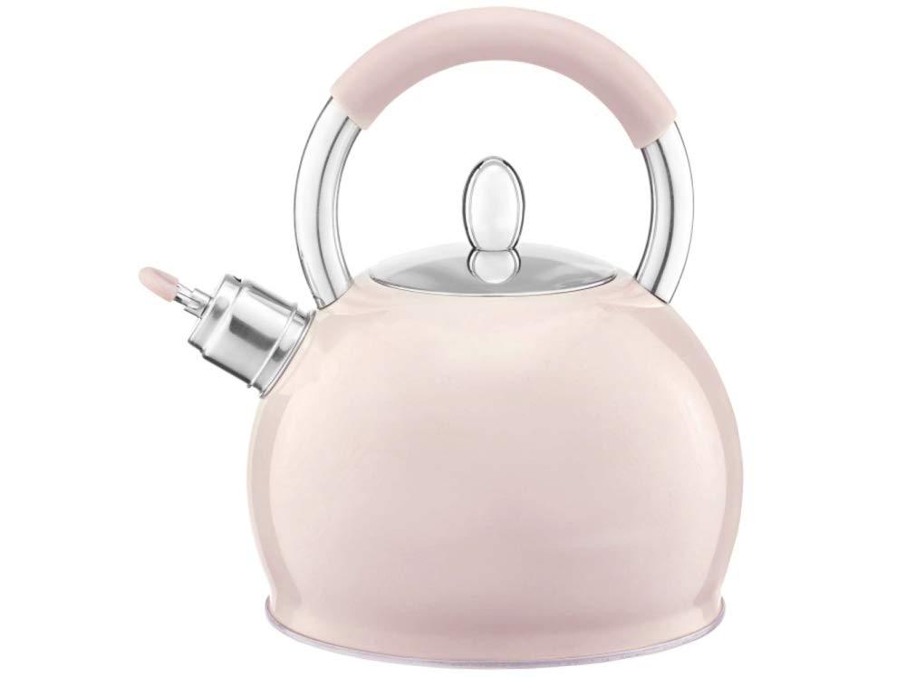estilo retro vintage Rosa Polvo 2,3 litros Crema para inducci/ón Hervidor de agua de acero inoxidable