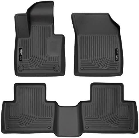 Amazon Com Husky Liners Fits 2016 19 Volvo Xc90 Weatherbeater Front 2nd Seat Floor Mats Black 95601 Automotive