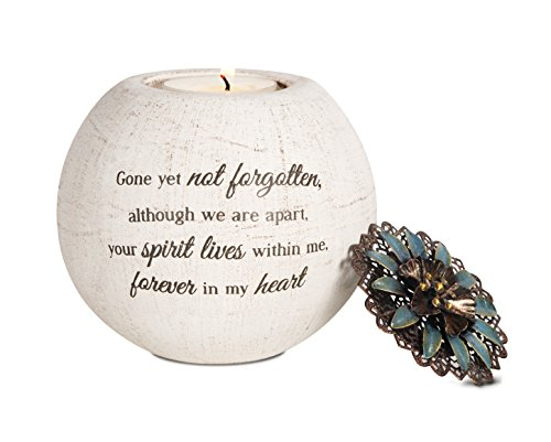 Pavilion Gift Company 19093 Forever in My Heart Terra Cotta Candle Holder, 4-Inch ()