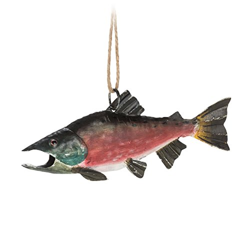 Abbott Collection 27-LODGE/0456 Salmon Fish Ornament-5.25