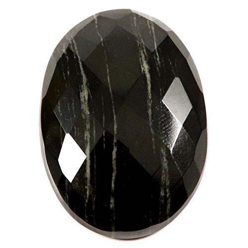 - Gems&Jewels 54.10 cts 100% Natural Designer Silver Leaf Jasper Cabochon Oval Loose Gemstone
