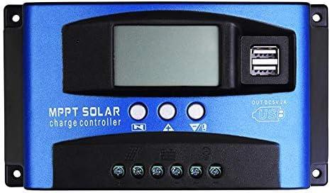50A MPPT Solarladeregler 12 V 24 V Intelligenter Laderegler Solar Pannel Batterieregler mit LCD-Display und Doppeltem USB