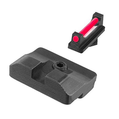 TRUGLO Fiber-Optic PRO Competition High Visibility Handgun Sights, Glock Low Set (TG132G1)