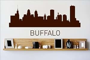 Vinyl wall decal sticker buffalo new york ny skyline for The family room buffalo ny