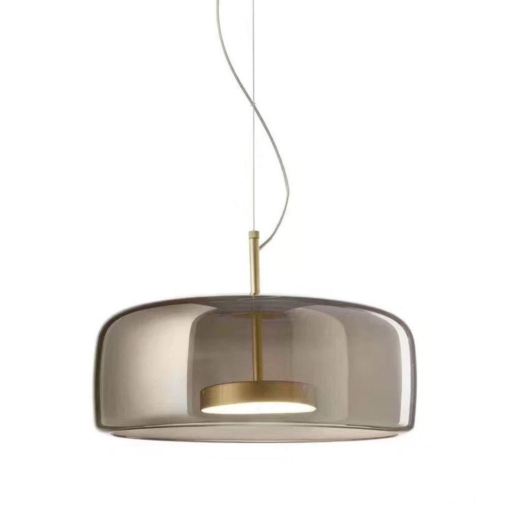 doro Metallo E Grigio Paralume in vetro Lampada a sospensione Perline lampada patch LED Lampadario Grigio, A MZStech Nuovo design Moderno Luce pendente