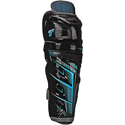 Roller Guards Shin - Tour Code 1 Inline Hockey Shin Guards Size: 16 Inch Black