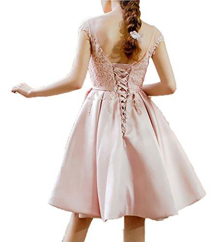 Knielang Partykleider Abschlussballkleider Cocktailkleider Kurz Neu La Spitze Satin 2018 Minze Braut Abendkleider Gruen mia vIw1qZ