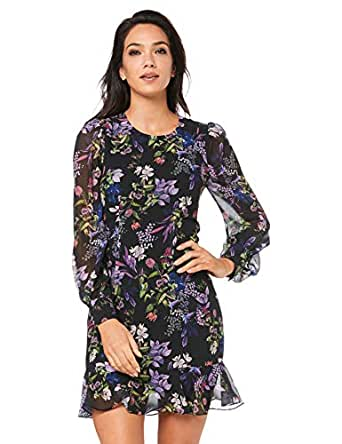 Cooper St Women's Le Jardin Long Sleeve Mini Dress, Print Dark, 10