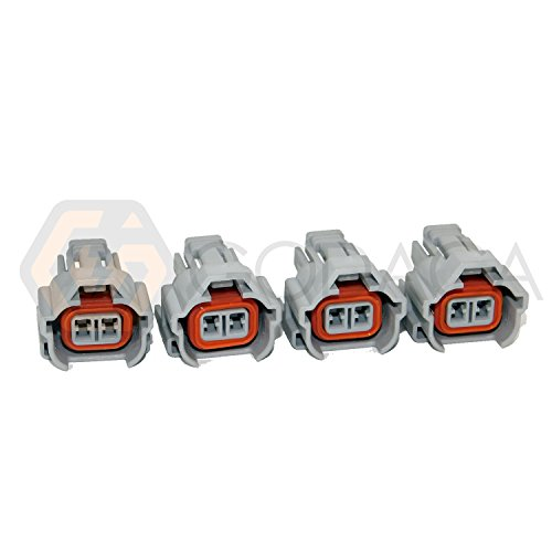 (4 X Nippon Denso Fuel Injector Connector Helix 1jz 2jz Toyota W/out Wire Top)