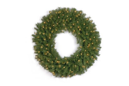 National Tree 36 Inch Norwood Fir Wreath with 100 Clear Lights (NF-36WLO-1) by National Tree Company