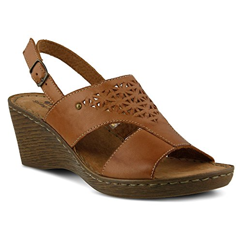 Spring Step Women's Katia Slingback,Brown Leather,EU 38 M